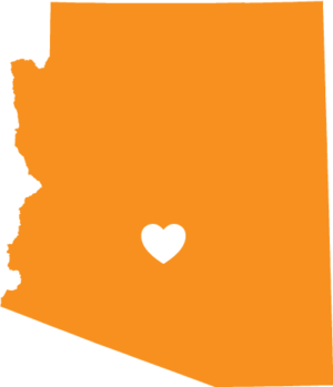 Arizona love state outline