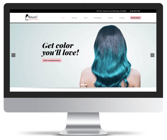 Babydoll Hair Salon Website Design