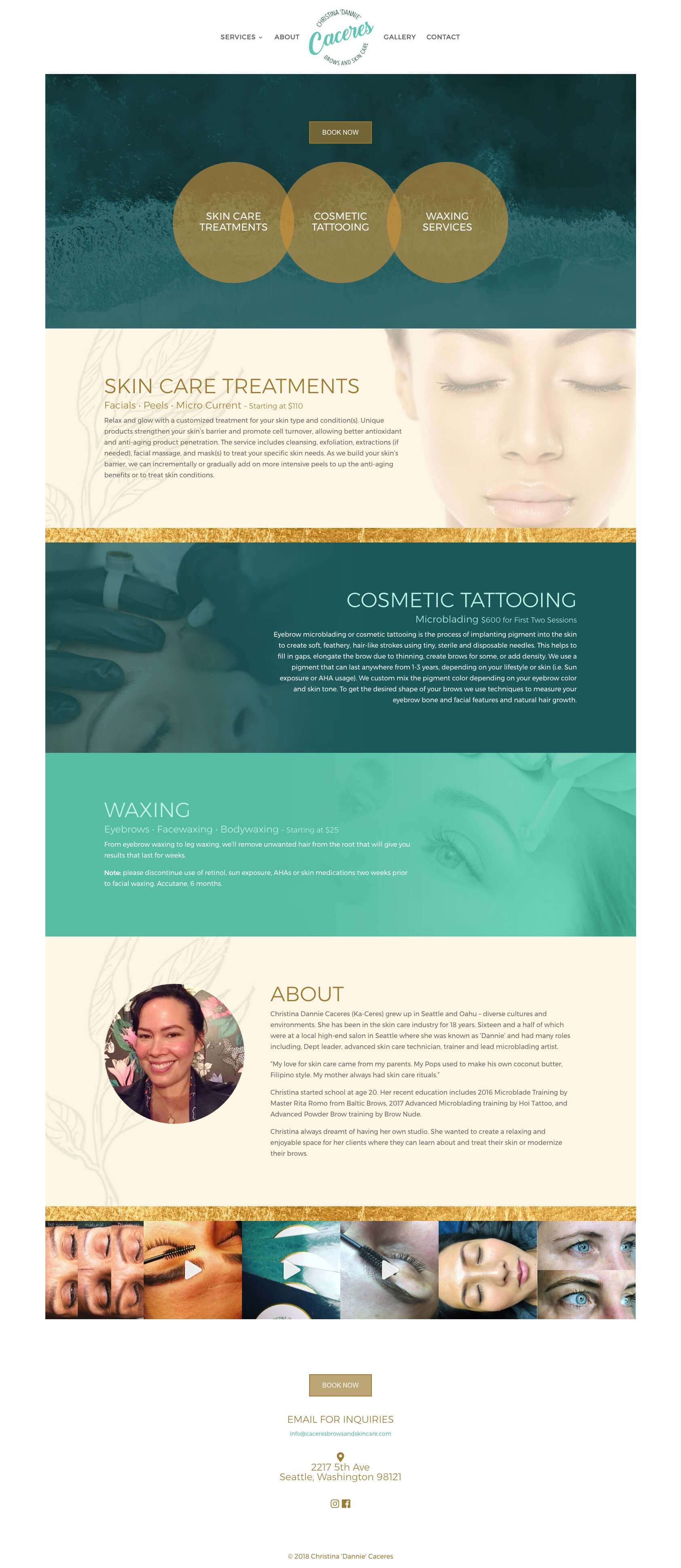 Skincare website concept