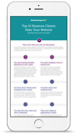 10 Reasons Clients hate your website iphone mockup