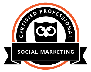 Hootsuite social media certification logo