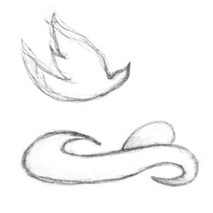 logo nest and egg sketch