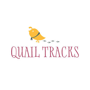 quail tracks logo design