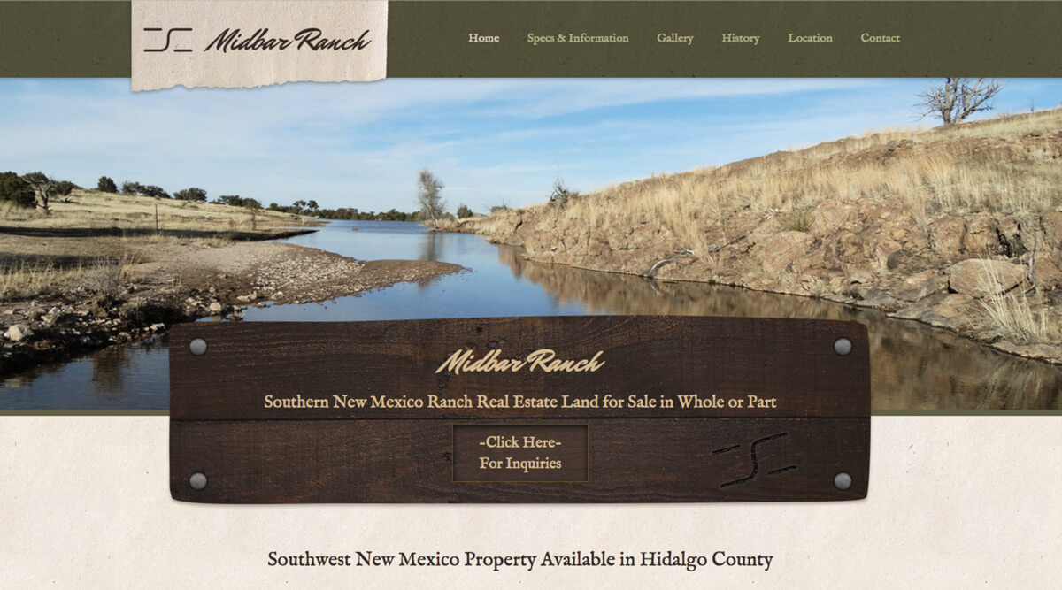Midbar Ranch website call to action