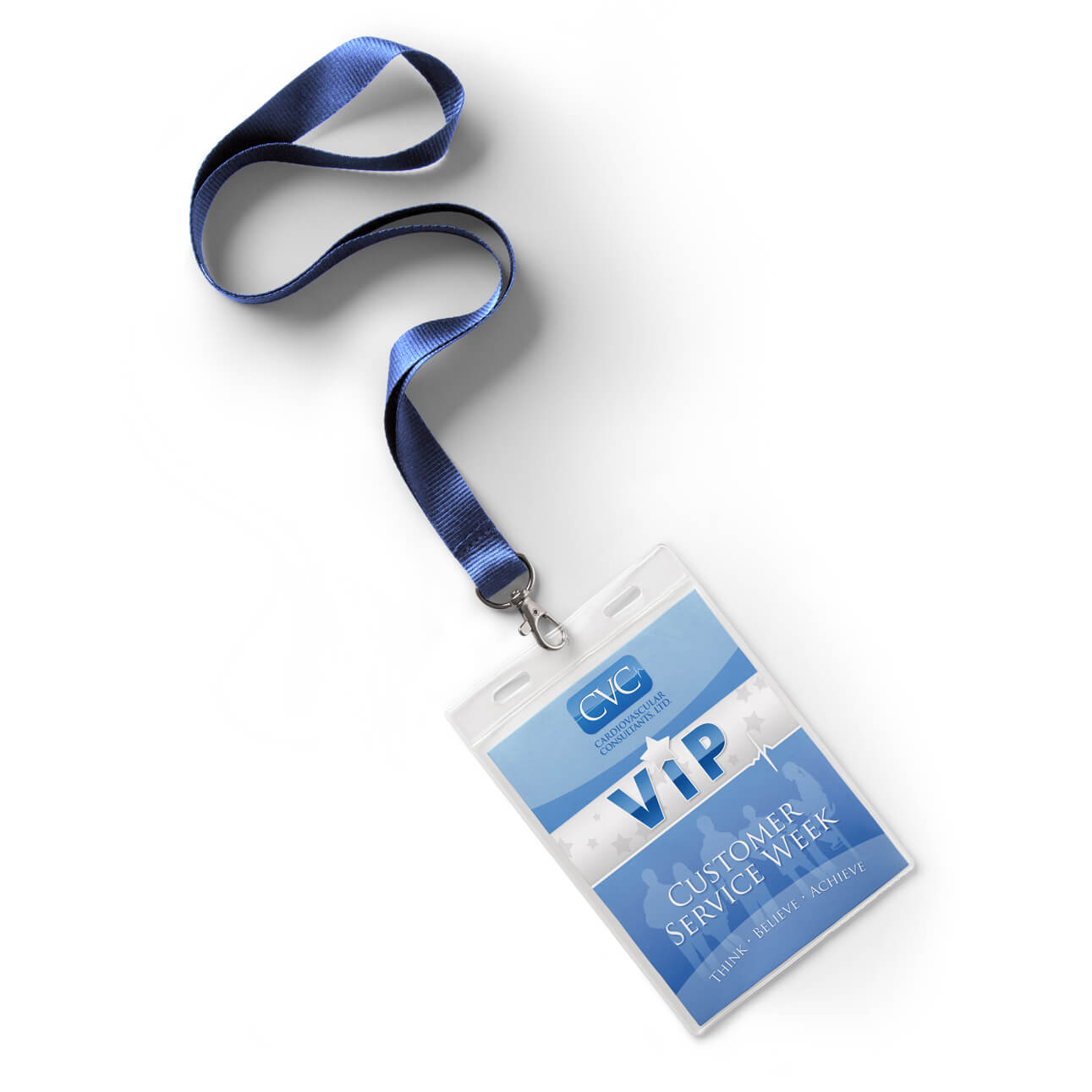 VIP badge design mockup