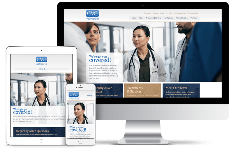 Cardiovascular Consultants Website Design Mockup