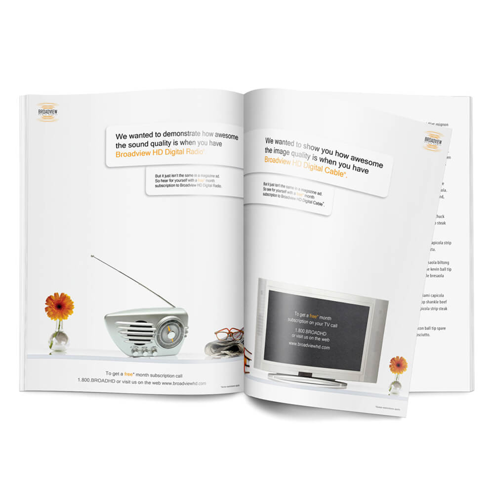 Ad full page layout design
