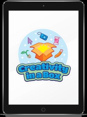 Creativity in a Box logo mockup