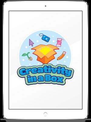 creativity in a box logo design mockup