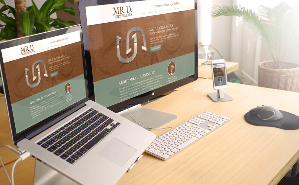sales web design mockup
