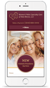 Women's Pelvic Specialty Care website mobile mock up