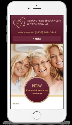 Womens Pelvic Specialty Care Web Design