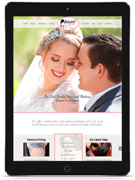 babydoll weddings web design tablet mockup