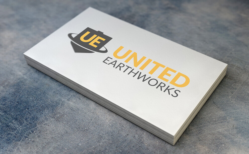 business card and logo design mockup