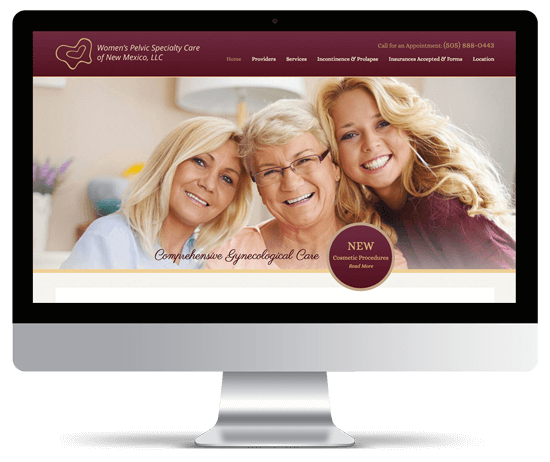Womenspsc.com web design mockup