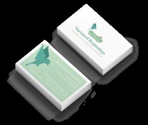 Nurtured Beginnings business card mockup