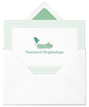 nurtured beginnings letter mockup