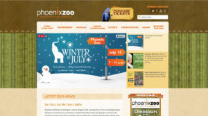 Phoenix zoo call to action screen shot