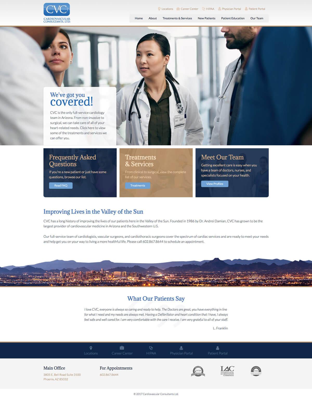 cvcheart web design mockup