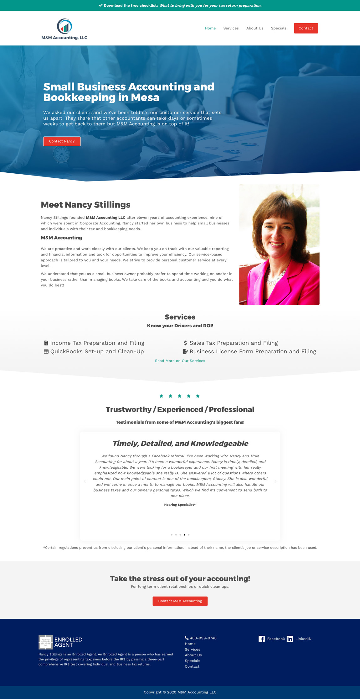 MM Accounting Website Concept