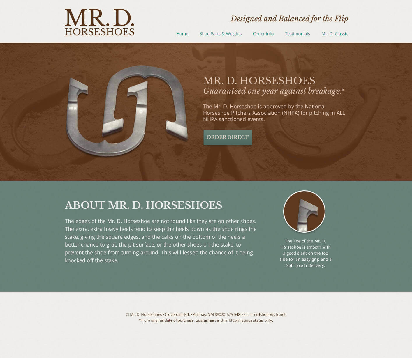 Promo web design concept