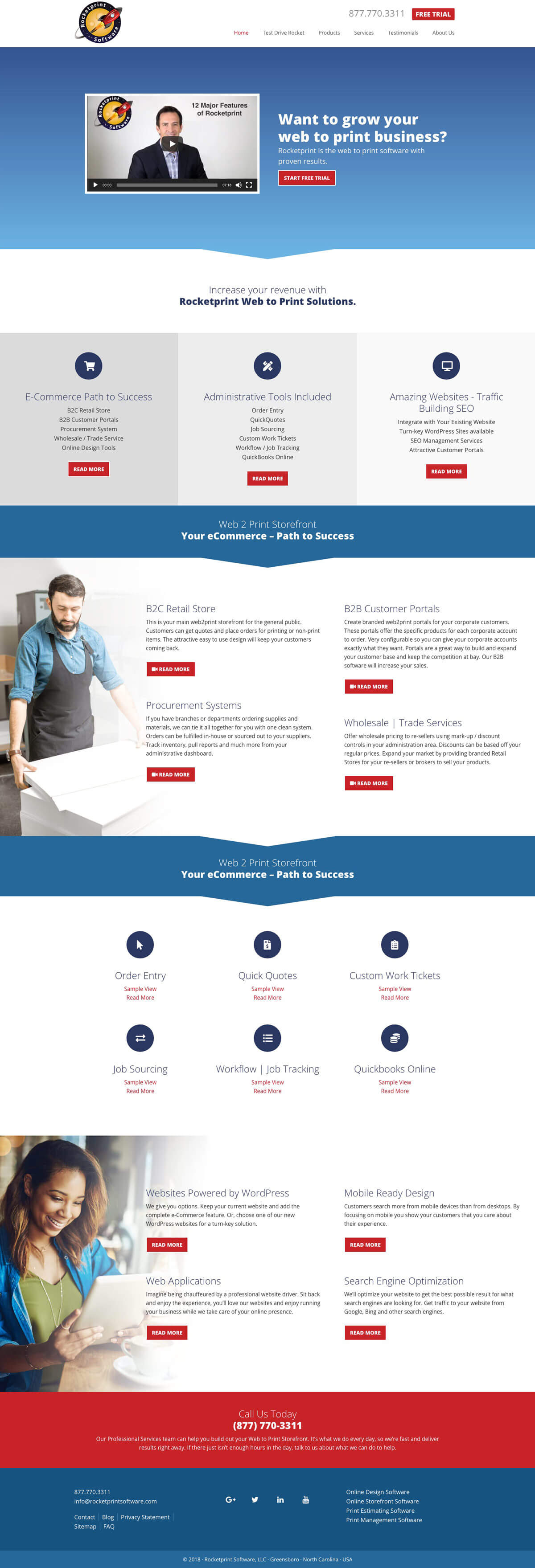 web design concept rocketprint