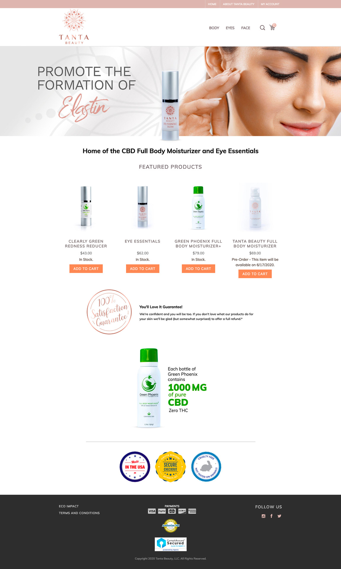 Tanta Beauty Web Design Concept