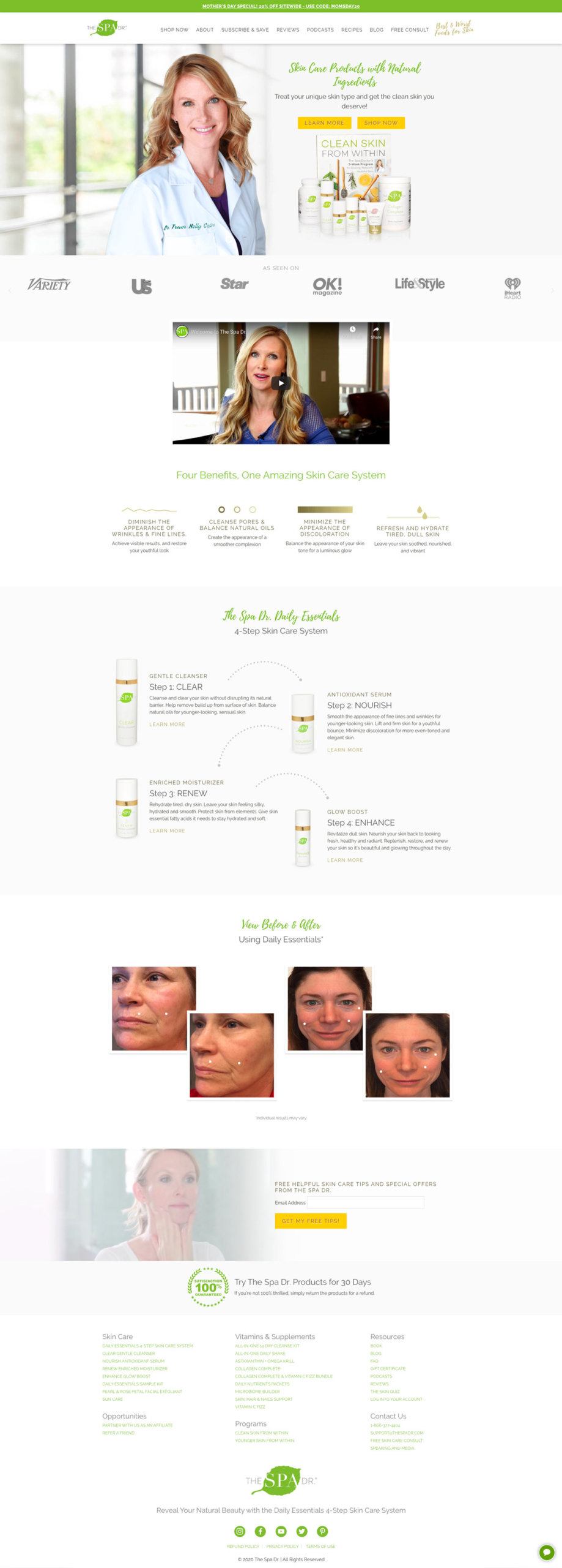 The Spa Dr. Web Design Concept