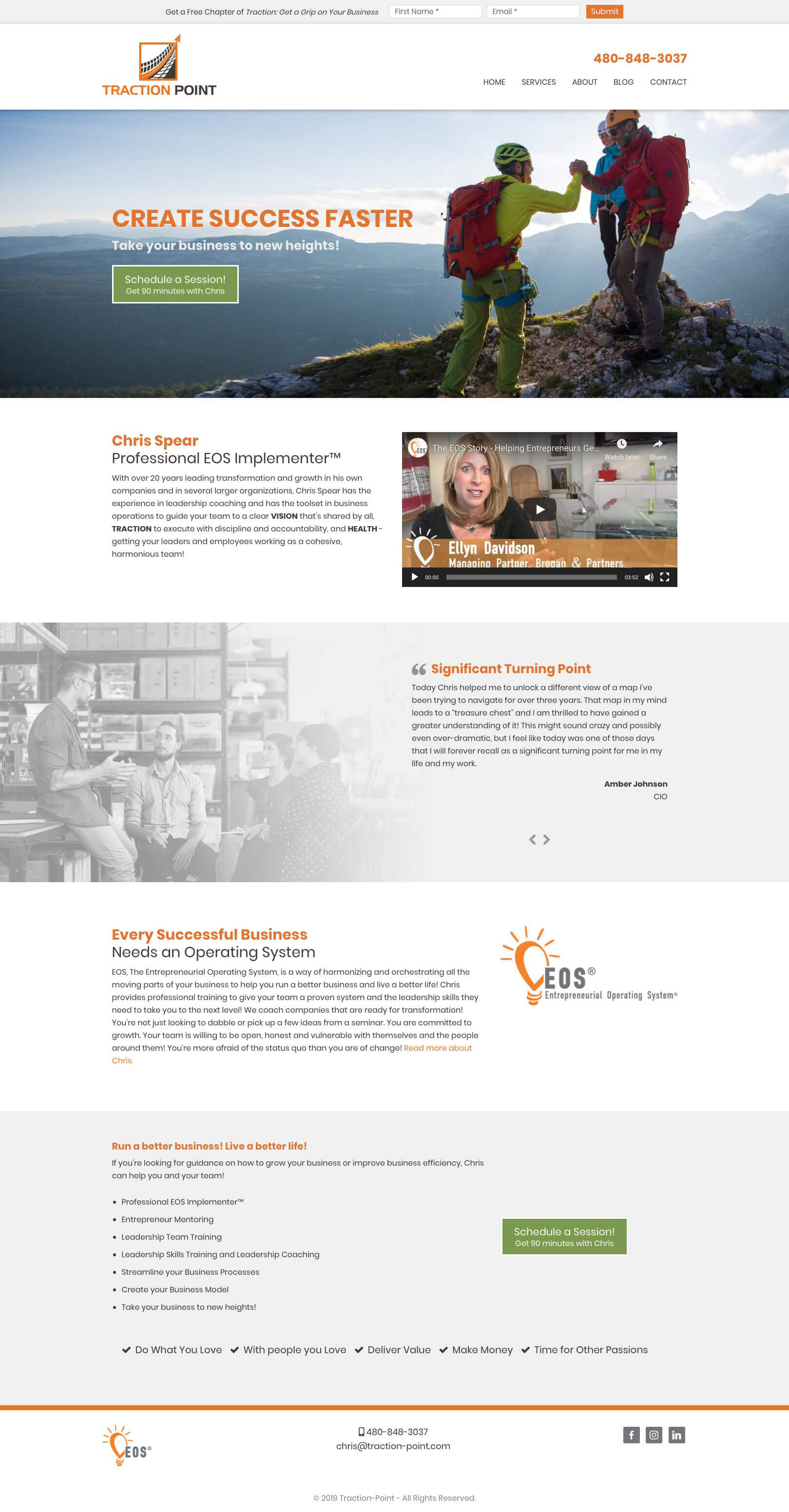 traction point web design concept