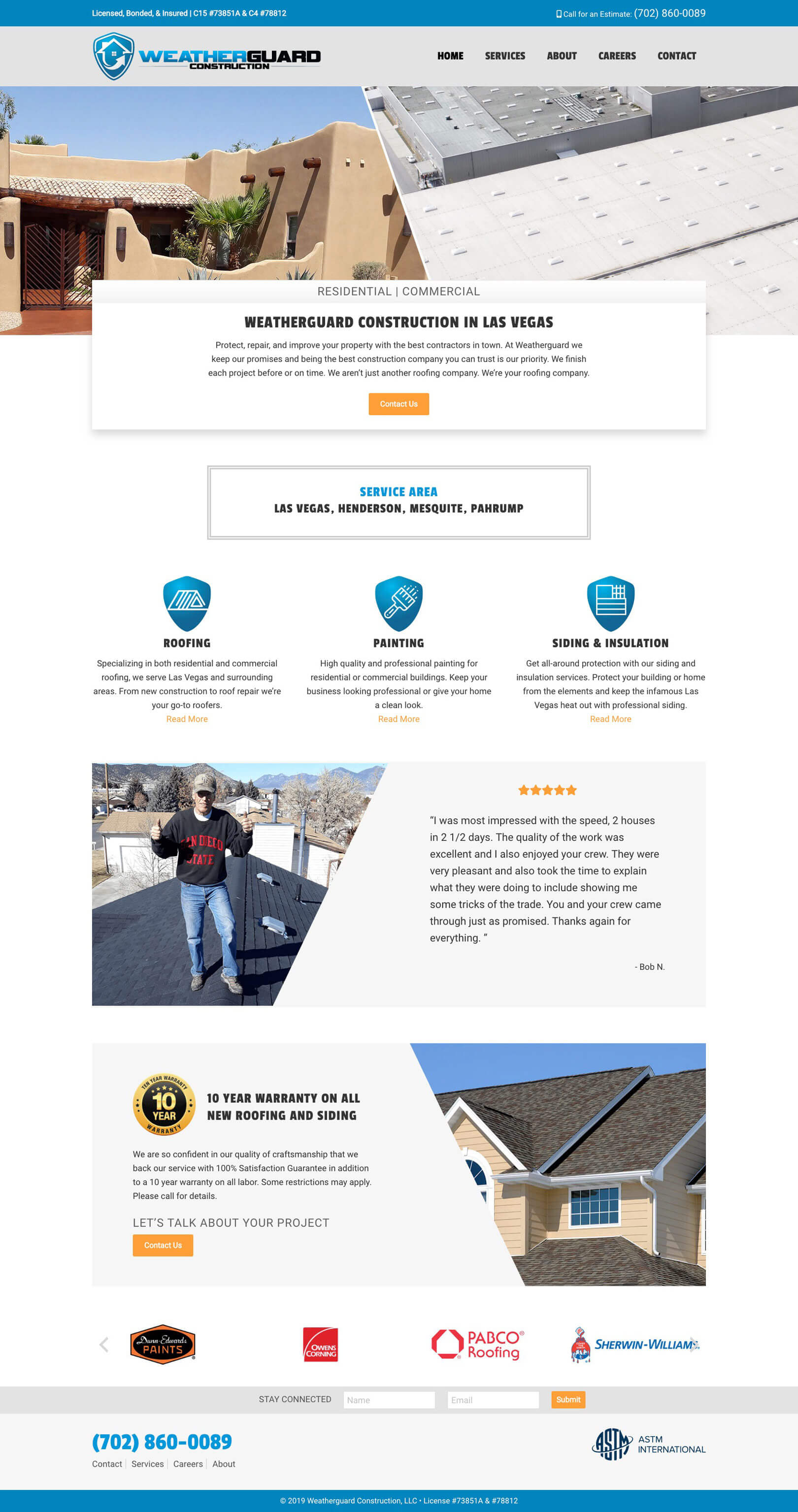 web design concept weatherguard construction